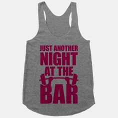 Oh, just another night at the bar. Working out and getting swole though, no alcohol for this fitness junkie. Get your workout on and leave the partying for everyone else. #fitness #workout #lifting #bar #gym #weights