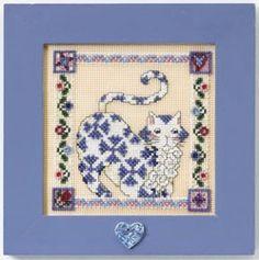 Cross Stitch Kit-Sapphire Cat