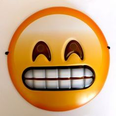 A hilarious emjoi smiley fancy dress mask that features the grimacing teeth grin face emoticon. Like the smiley pictures on your phone, this novelty mask will great fun for parties and events. Fancy Dress Photos, Fancy Dress Masks, Emoji Mask, Silly Gifts, Emoji Faces, 3d Face, Event Organiser, Fun Events, Photo Booth Props