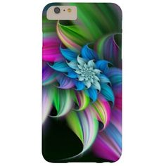 beautiful rainbow colors flower barely there iPhone 6 plus case
