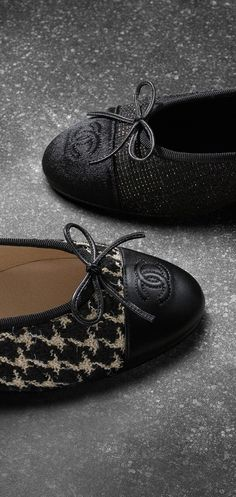 Tweed and lambskin ballerinas - CHANEL FALL-WINTER 2015/2016