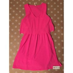 BRAND NEW red dress boutique scalloped dress This dress is a brand new dress from Red Dress Boutique. It's a gorgeous pink color with a cinched waist and scalloped tank overlay. Dresses Mini