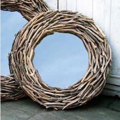 Round driftwood Mirror