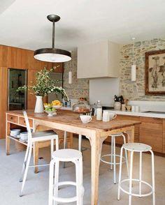 modern rustic kitchen  Verdigris Vie: An Old Mill - The Kitchen