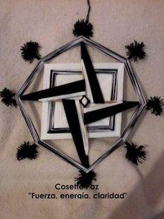 Resultado de imagen para ojo de dios, mandala tejido