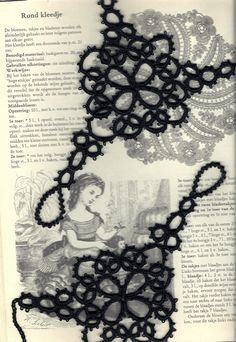 Tatting, bookbinding, drawing,          sewing and lots of other things.    Kreatief boekbinden, collage, journaling en frivolité