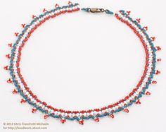 Red, White and Blue Fourth of July Beaded Necklace Pattern: Gather Your Materials