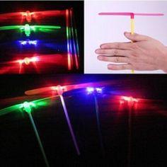 Light Up LED Flying Dragonfly Flash Gadgets Novel Boy Kids Toys Night Party Gift