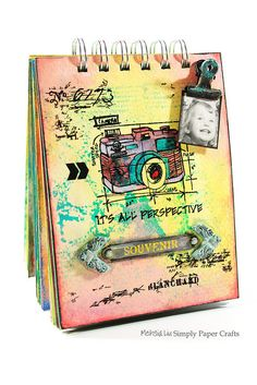 Created by Meihsia Liu using Tim Holtz Exclusives by Simon Says stamp for STAMPtember