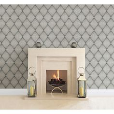2662-001906 Charcoal Diamond Geometric - Enlightenment - Precision Wallpaper by Beacon House