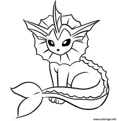 Vaporeon coloring pages | www.veupropia.org | Coloring Pages | Pinterest