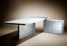 marble desk & cabinet