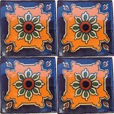 Puebla Talavera Mexican Tile Close-Up