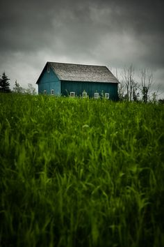 Items similar to Country Barn Aqua Blue Color Photograph Print on Etsy Country Barns, Old Barns, Country Life, Country Living, Old Buildings, Abandoned Buildings, Abandoned Places, Aqua Blue Color, Barns Sheds