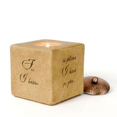 Tea light included  Saying: For I know the plans I have for you...to give you a future and a hope -Jeremiah 29:11    $16.00