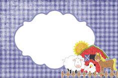 Fazendinha Menino - Kit Completo com molduras para convites, rótulos para guloseimas, lembrancinhas e imagens! - Fazendo a Nossa Festa
