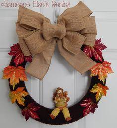 Harvest Wreath {tutorial} #turkey #harvest #thanksgiving