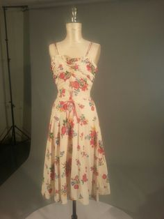 1970s sundress - so current except for the covered button back closure and not a zipper