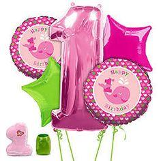 PREPPY GIRL 1ST BIRTHDAY PARTY BALLOON K
