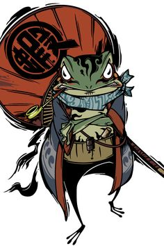 Searching the artist Character Art, Japanese Illustration, Samurai Artwork, Samurai Art, Japanese Tattoo Art, Art, Frog Art, Japan Art, Japanese Folklore
