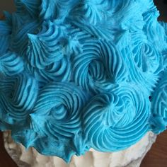 My bakery made this jumbo cupcake for a 1-year-old boy's birthday that he will probably smash to bits. #vegan #glutenfree #sugarfree