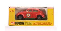 "Mettoy Corgi Toys No.383 VW Beetle ""Flower Power"""
