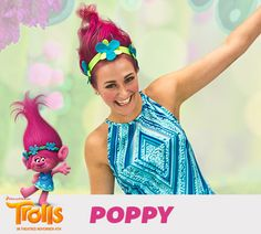 You can look like Poppy too. Here's an easy DIY Halloween costume for girls of any age!