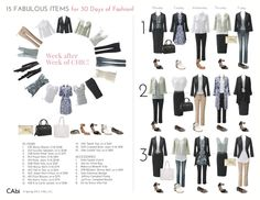 15 items, 30 days of outfits