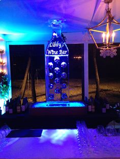 An Ice Sculpture which also doubled as a wine bar.
