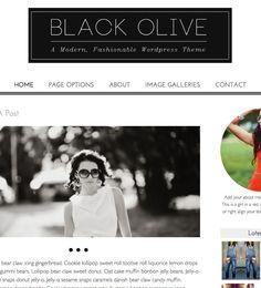 Black Olive - a modern, fashionable WordPress theme