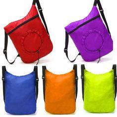 Nylon Drawstring Cinch Fold Sack Sport Travel Outdoor Backpack Bags Excellent #UnbrandedGeneric #DuffleGymBag
