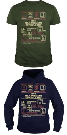 RISK MANAGEMENT CONSULTANT  Guys Tee Hoodie Sweat Shirt Ladies Tee Guys V-Neck Ladies V-Neck Unisex Tank Top Unisex Longsleeve Tee Consultant T-shirt Principal Consultant T Shirt Moisture Management T-shirts Inventory Management T Shirts