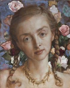 John Currin, Rachel in the Garden, 2003. Oil on canvas.