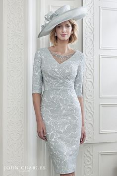 9f1dad9f05dc John Charles 26584 from their Spring Summer 2019 collection. A stylish  Mother of the Bride and Mother of the Groom dress in Silver.