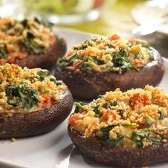 Creamy Spinach-Stuffed Portobellos | AmazonFresh