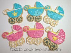 Baby Pram custom cookies