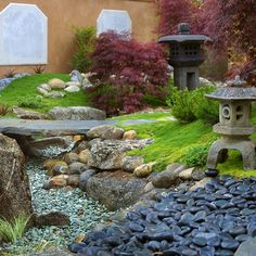 Dry Creek Bed · Japanese Garden Bridge Design Ideas, Pictures, Remodel, and Decor