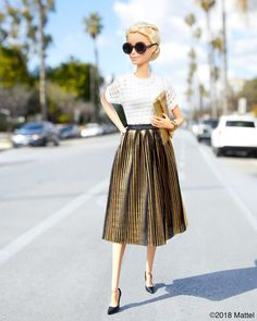 On a classic California street in a golden state of mind. ✨ #barbie #barbiestyle