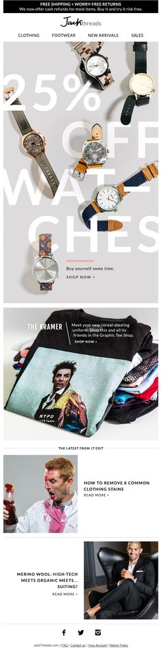 JackThreads email 2016 email marketing email design email content men's clothing https://www.jackthreads.com/