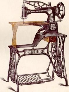 The sewing machine for leather stitching; Singer's Model 29.