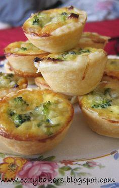 Broccoli and Cheddar Cheese Mini Quiche