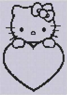 Looking for your next project? You're going to love Hello Kitty Heart Cross Stitch Pattern  by designer bracefacepatterns. - via @Craftsy