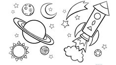 coloring space printable sheets online - Enjoy Coloring