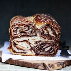 Povitica-Croatian Chocolate Walnut Bread made of sweet yeasted dough slathered generously with a delicious walnut/chocolate/vanilla filling.