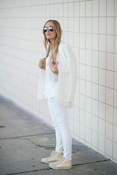 eat.sleep.wear. | white on white #style #fashion