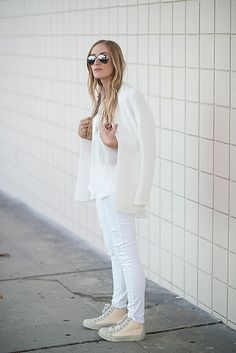 eat.sleep.wear. | white on white #style #fashion