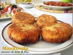 Maakouda au thon / galettes de thon ( معقودة بطاطا بالتونة ) Tunisian Food, Algerian Recipes, Oriental Food, Pasta, Iftar, International Recipes, Food And Drink, Appetizers, Yummy Food