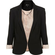 Structured Blazer ❤ liked on Polyvore