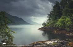 A little rainfall at Loch Duich in the Highlands