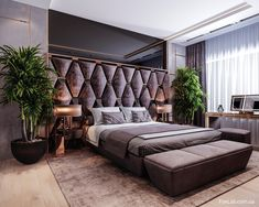 Modern Luxury Bedroom, Master Bedroom Interior, Luxury Bedroom Design, Modern Master Bedroom, Bedroom Furniture Design, Master Bedroom Design, Luxurious Bedrooms, Luxury Bedrooms, Bed Back Design